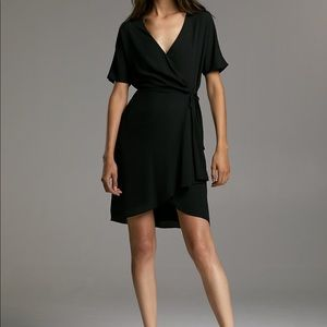Aritzia black wrap dress.